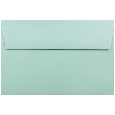 JAM Paper A9 Foil Lined Envelopes, 5.75 x 8.75, Aqua Blue, 1000/Pack