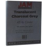 JAM Paper® Translucent Vellum Cardstock, 8.5 x 11, 43lb Charcoal Grey, 250/Box (1592227)