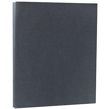 JAM PaperMD – Papier cartonné vélin translucide, 8 1/2 x 11 po, gris graphite, 43 lb, 50/paquet