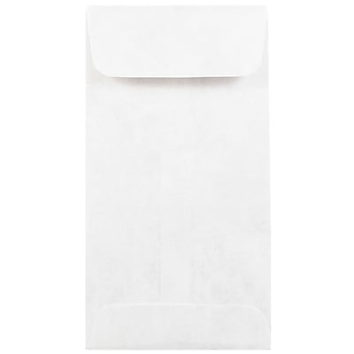 JAM Paper® Tyvek Envelopes, #7 Coin, 3 1/2