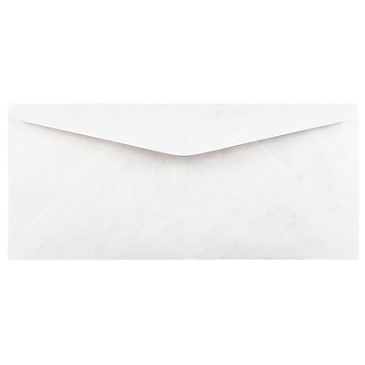 """""JAM Paper Tyvek Envelopes, #9 Size, 3 7/8"""""""" x 8 7/8"""""""", White, 50/Pack (2131080C)"""""" 2329374"