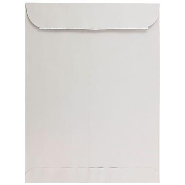 JAM PaperMD – Enveloppes à ouverture au sommet avec fermeture autocollante, 10 x 13 po, gris clair