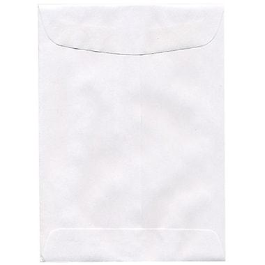 JAM PaperMD – Enveloppes à ouverture au sommet, 5 x 7 1/2, blanc