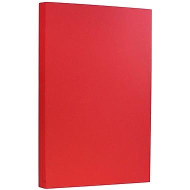 JAM Paper Papier cartonné recyclé format légal de 8 1/2 x 14 po, Brite Hue rouge, 50/paquet