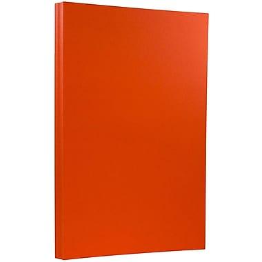 JAM PaperMD – Papier cartonné recyclé format légal de 8 1/2 x 14 po, Brite Hue orange recyclé, 50/paquet