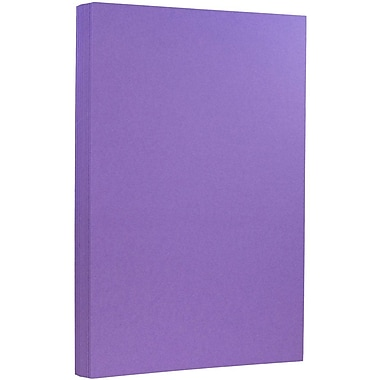 JAM Paper® 8 1/2 x 14 Legal Size Recycled Cardstock, Brite Hue Violet Purple, 50/Pack
