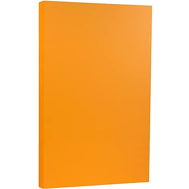 JAM Paper® 8 1/2 x 14 Legal Size Cardstock, Brite Hue Ultra Orange, 50/Pack