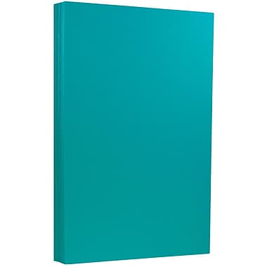 JAM Paper® 8 1/2 x 14 Legal Size Recycled Cardstock, Brite Hue Sea Blue, 50/Pack