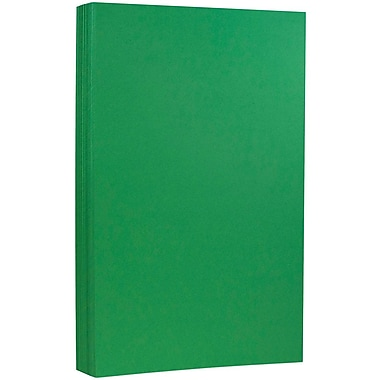 JAM Paper® 8 1/2 x 14 Legal Size Recycled Cardstock, Brite Hue Green, 50/Pack