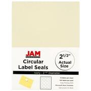 "JAM Paper® Circle Label Sticker Seals, 2 1/2"" Diameter, Ivory, 120/Pack (147628590)"