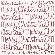 JAM Paper® Christmas Wrapping Paper, Glittered Merry Christmas Script Design, 11.25 Sq Ft, 2/Pack