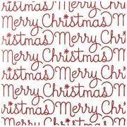 JAM PaperMD – Papier d'emballage de Noël, motif « Merry Christmas » brillant, 11,25 pi2, 2/paquet