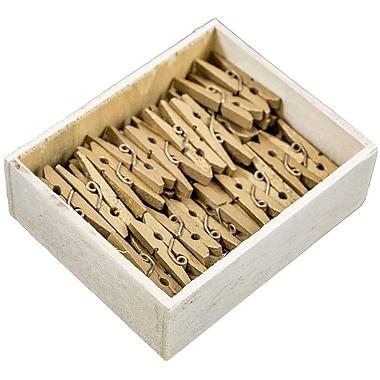 JAM PaperMD – Épingles à linge en bois, moyennes, 1 1/8 po, 100/paquet