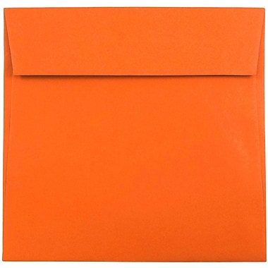 JAM Paper® Square Envelopes, 5 1/2 x 5 1/2, Mandarin Orange, 50/Pack
