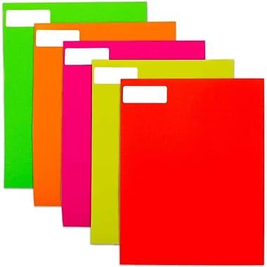 JAM PaperMD – Étiquettes postales rectangulaires fluorescentes, couleurs assorties, 1 x 2 5/8 po, 600/paquet