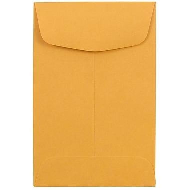 JAM PaperMD – Enveloppes à monnaie nº 4, 3 x 4 1/2 po, brun kraft/manille, 1000/paquet