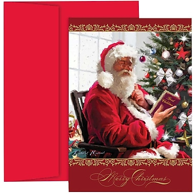 JAM PaperMD – Ensemble de cartes de Noël, carte des fêtes « Liste du Père Noël », 18/paquet