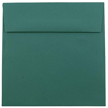 JAM Paper Enveloppes carrées de 6,5 x 6,5 po, bleu sarcelle, 250/paquet
