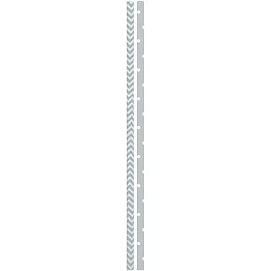JAM Paper® Color Paper Straws, Silver Stripe Pattern and Dots, 24/Pack (52662006967)