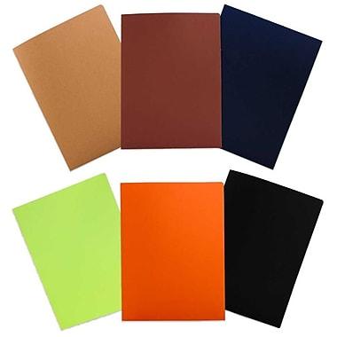 JAM PaperMD – Chemises de présentation mates à 2 pochettes, couleurs variées, 6/paquet
