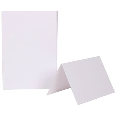 JAM PaperMD – Cartes vierges rabattables, 4 5/8 x 6 1/4 po, blanc, 500/boîte