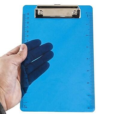 JAM PaperMD – Planchettes à pince en plastique, 6 x 9, bleu, 12/paquet