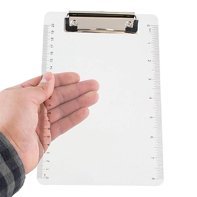 JAM Paper® Small Plastic Clipboards, 6