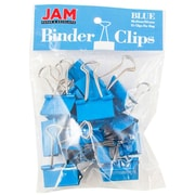 "JAM Paper® Colored Binder Clips, Medium, 1.25""/32mm, Blue, 15/Pack (339BCBU)"
