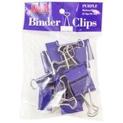 """JAM Paper® Colored Binder Clips, Medium, 1.25""""/32mm, Purple, 15/Pack (339BCPU)"""