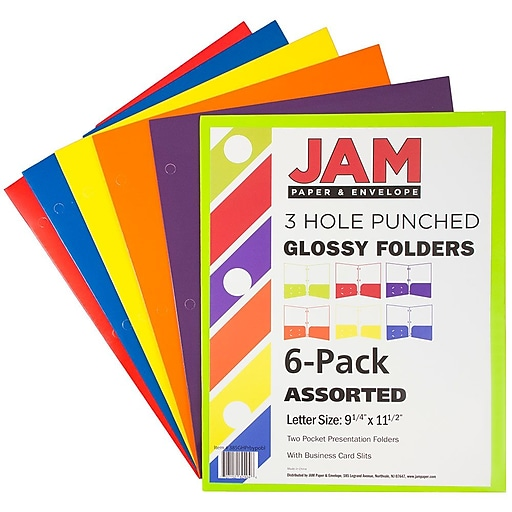 Jam paper laminated glossy 2 pocket 3 hole punch school httpsstaples 3ps7is reheart Image collections