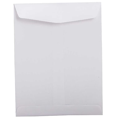 JAM Paper 8 3/4 x 11 1/4 Open End Envelopes, White, 50/Pack