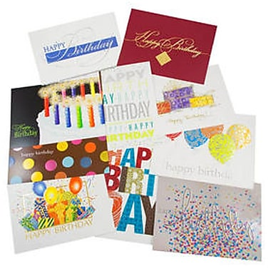 JAM Paper Happy Birthday Card Assortment 5 8