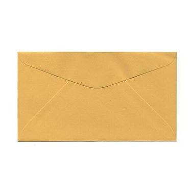 JAM PaperMD – Enveloppes commerciales nº 6 3/4, 3 5/8 x 6 1/2 po, orange verge d'or, 500/paquet