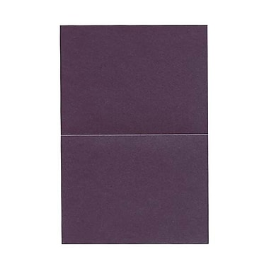JAM PaperMD – Carte pliable métallisée, 4 5/8 x 6 1/4 po, violet rubis, 25/paquet