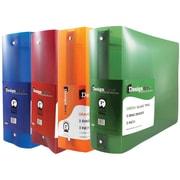 JAM Paper® Assorted 3 Inch Plastic 3 Ring Binders, Red, Green, Blue & Orange, 4/Pack (821T3ASSRT)