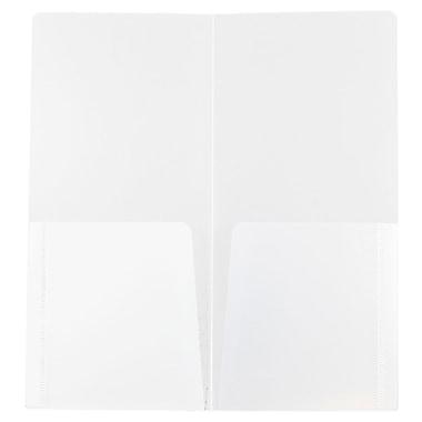JAM PaperMD – Chemises de présentation miniatures en plastique robuste à 2 pochettes, petit 4 1/4 x 9 1/8 po, 12/paquet