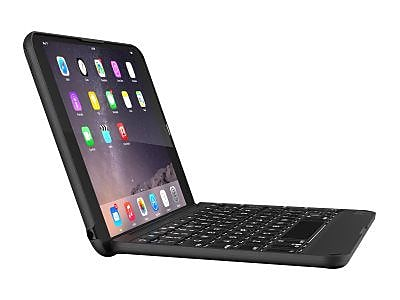 Zagg® IM4ZFK-BB0 Polycarbonate Bluetooth Keyboard and Folio Case for Apple iPad Mini 4, Black