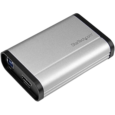 StarTech.com USB 3.0 Capture Device for High-Performance HDMI Video, 1080p at 60fps, Aluminum (USB32HDCAPRO)