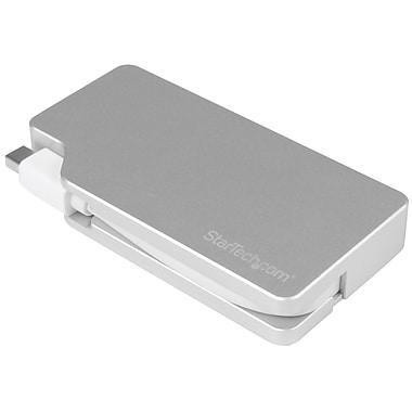 StarTech ® Adaptateur de voyage audio/vidéo en aluminium : 3-en-1 Mini DisplayPort à DVI VGA ou HDMI, 4K (MDPVGDVHD4K)