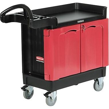 Rubbermaid Commercial Cart Trademaster 16x30 2Door 500 Lbs Cap Black (FG451288BLA)