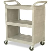 "Rubbermaid Commercial Trade Cart 19.25""W x 38""L x 33.38""H Platinum 300Lbs (FG335588PLAT)"