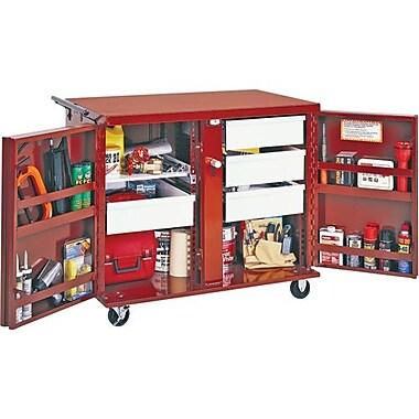 Jobox® Rolling Bench 4 Draw, 1 Shelf 43 7/8 x 26 7/8 x 40 1/2 (676996)