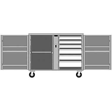 Jobox® Rolling Bench 6 Drawer, 1 Shelf 49 7/8 x 26 7/8 x 40 5/8 (678990)