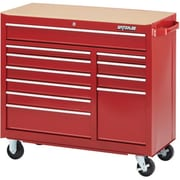 "Waterloo Industries 41"" 11 Drawer Cabinet, Red (WCA-4111RD)"