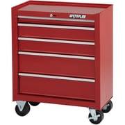 "Waterloo Industries 26"" 5 Drawer Cabinet (14"" Depth), Red (SCA-26514RD-F)"