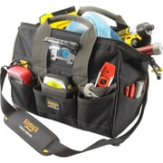 """Kuny's™ Leather Tech Gear Led Lighted 14"""" Bigmouth Tool Bag (L230)"""