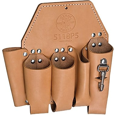 Klein Tools 5-Pocket Leather Tool Pouch (5118P5)