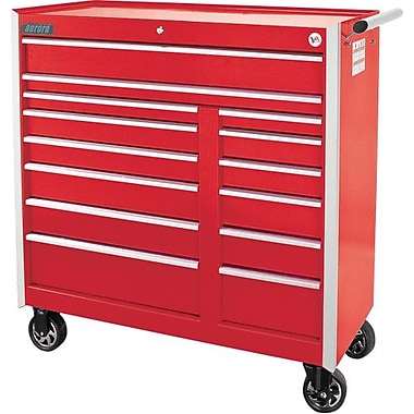 Aurora Tools® ATB400 Tool Cart, 14 Drawer, 43-3/8