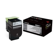 Lexmark Unison 800H1 Toner Cartridge, Laser, High Yield, OEM, Black, (80C0H10)