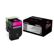 Lexmark 700H3 High Yield Toner Cartridge, Laser, High Yield, OEM, Magenta, (70C0H30)